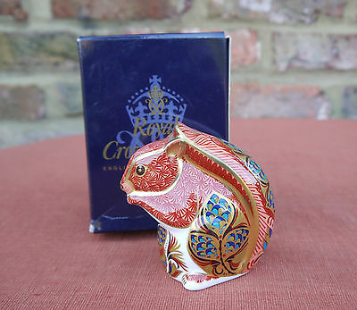 """Royal Crown Derby """"Squirrel"""" Paperweight - Special 21 Gold Stopper"""