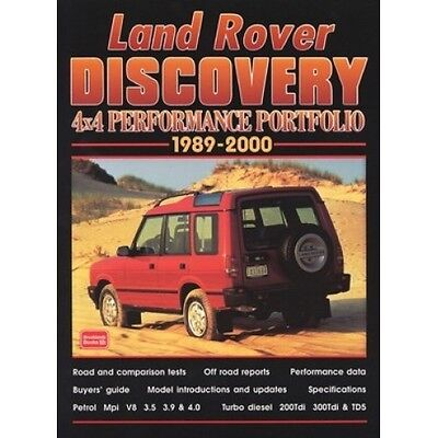 Land Rover Discovery 4X4 Performance Portfolio 1989-2000 book paper