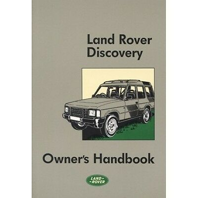 Land Rover Discovery Owners Handbook 1989-1990 MY book paper