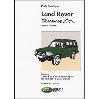 Land Rover Discovery Parts Catalogue 1989-1998 MY book paper
