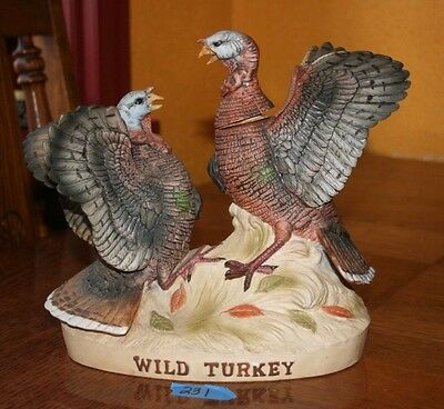 Limited Edition 1983 Porcelain Wild Turkey Fighting No. 3 Decanter Bottle
