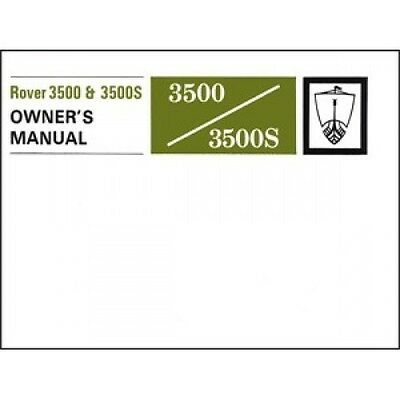 Rover 3500 & 3500S Owners Manual (P6) book paper
