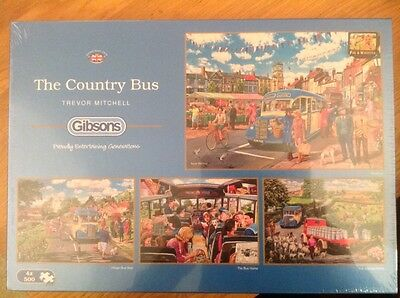 Gibsons The Country Bus Jigsaw Puzzle 4 x 500-Piece