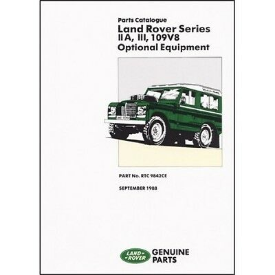 Land Rover Series 2A 3 109V8 Optional Equipment Parts Catalogue book paper