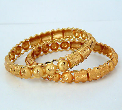 Ethnic Traditional Bangle Gold Plated Bridal Wedding Indian Jewelry New 2*10
