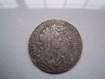 1689 William & Mary Great Britain Silver Halfcrown Half Crown Coin