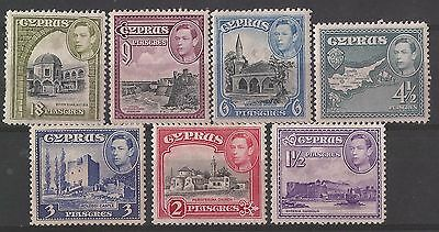 Cyprus 1938-51 MH KGVI all mint pictorial selection high values to 18 pi SG 160
