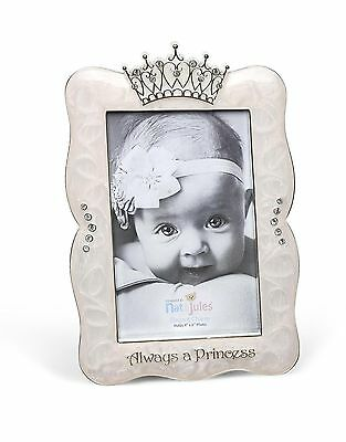 "DEMDACO Crown Photo Frame Always A Princess 4""x6"""
