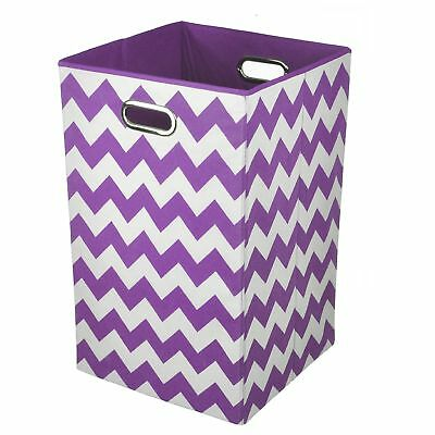 Modern Littles Laundry Bin Color Pop Purple Chevron Purple Laundry Basket