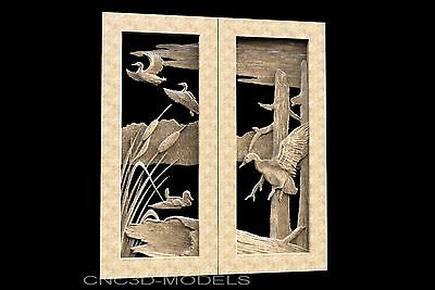 3D STL Models for CNC Router Engraver Carving Artcam Aspire Hunting Door 1140