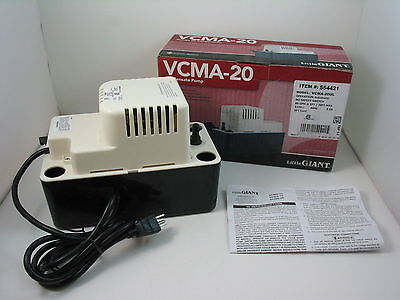 Little Giant VCMA-20ULS Condensate Pump, 115V, 1/30 HP, 1.5 Amps