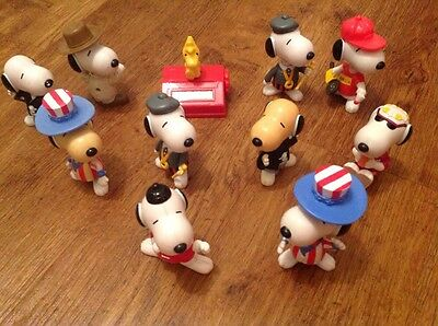 Set Of Snoopy Figures Approx 5Cm High