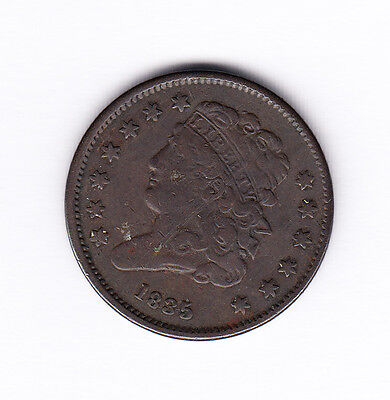 1835 United States 1/2 Cent Coin - Classic Head