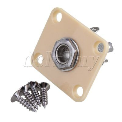 Creamy-white JACK PLATE Socket FOR Electric Guitar