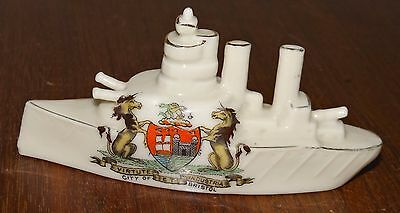 Crested Ware battleship, Arcadian China, Bristol arms