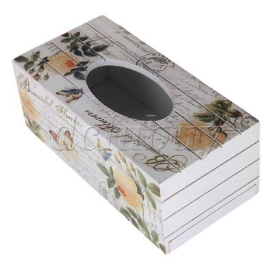 European-style Wooden Tissue Box Yellow Rose Paper Pumping Multicolor