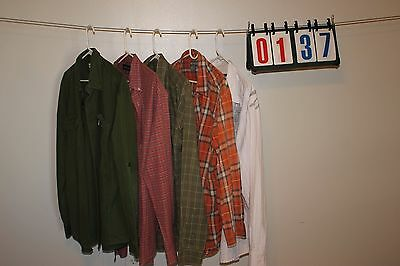 Lot of 5 Mixed Brands Mens Button Down Long Sleeve Casual Size XXL 17.5 34 35