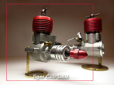CS Vintage Reproduction Tiger Cub 1.49 Model Diesel Engine - Rare Red Anodised