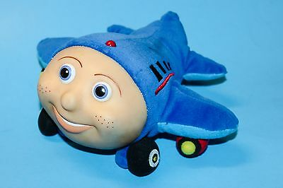"JAY JAY The JET PLANE 10"" BIG BLUE PLUSH TOY With VINYL FACE By KID POWER"