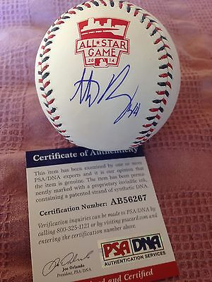 Anthony Rizzo signed 2014 All Star ball! PSA/DNA authentic. Cubs are WS Champs!!