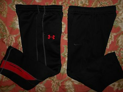 NIKE ThermaFit Under Armour Boy's Black Track Pants~2 Pairs~Youth Small 8