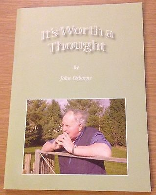 IT'S WORTH A THOUGHT John Osborne Booklet (Poetry) CHRISTIANITY