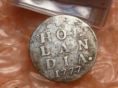 1777 Revolutionary War Era Dutch N.Y. Silver Colonial 'New York Dime' 2 Stiuver*