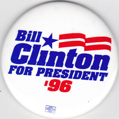 """1996 """"Bill Clinton For President '96"""" Campaign Magnet"""