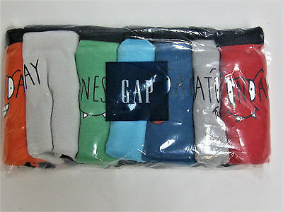 NWT Baby Gap Boy Toddler 2t-3t Underwear Briefs Silly Faces Days of the Week 2-3