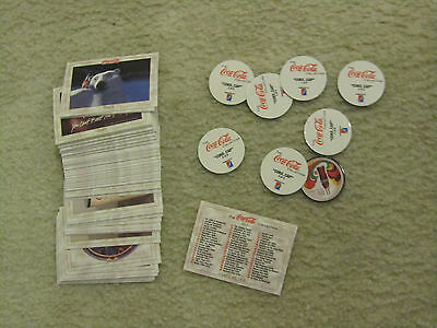 1993 Coca-Cola Trading Collect-A-Card Series 1 Complete Set of 100 + 8 Pogs