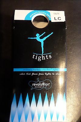 Revolution Dancewear Children's Footless Color-Flow Tights Tan New Large Child