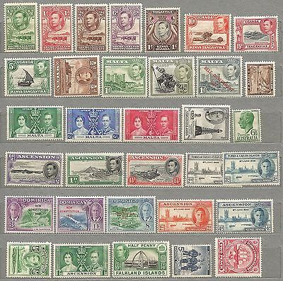 British colonial MNH/MH/OG/NG KGVI collection of all mint issues - worth looking