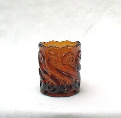 Toothpick Holder Amber Glass L G Wright Glass S Repeat
