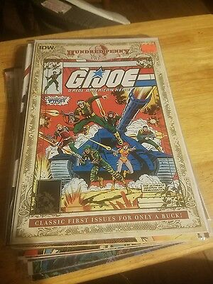 IDW GI JOE A Real American Hero 1 1982 Marvel 100 Hundred Penny Press variant NM