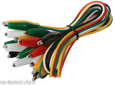 10-pc. Test Leads Set Jumper Wire With Alligator Clips