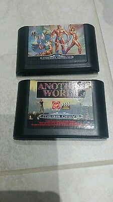 2 Sega Mega Drive Games / Golden Axe and Another World