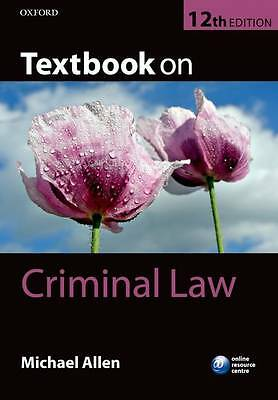 Textbook on Criminal Law by Michael J. Allen (Paperback, 2013)