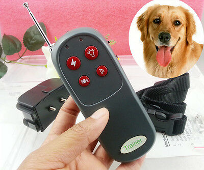 Quality 4in1 Shock Vibrate Remote Pet Dog Trainer Collar No Bark Controller