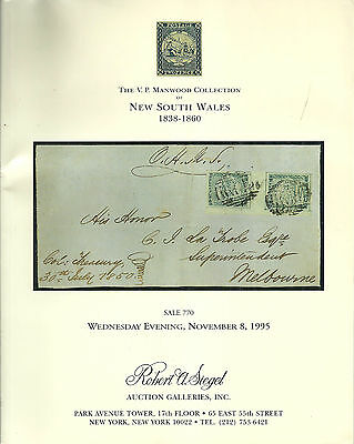 Auction Catalogue Vp Manwood Collection New South Wales 1838-1860