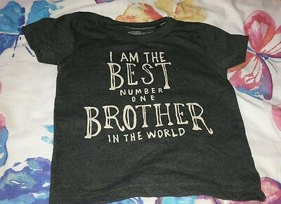 baby boys NEXT brother tshirt 9-12 months