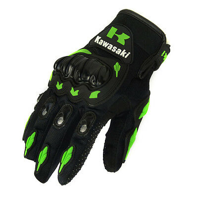 Vehicle Racing Motorcycle Gloves Motorbike Motor Motocross KAWASAKI Armour Mitts