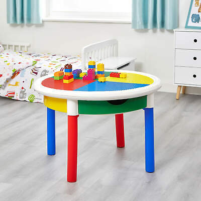 Round 4-Drawer Activity Table (no chairs) with storage and lego top