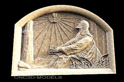 3D STL Models for CNC Router Engraver Carving Artcam Aspire Jesus Christ 1218