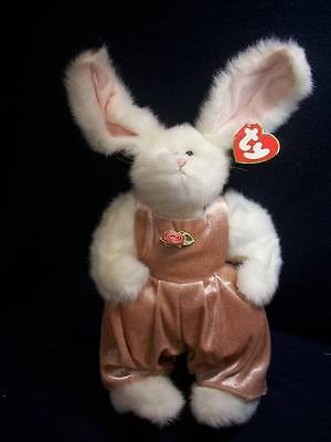 """Ty Bunny Rabbit 12"""" ~❤️~ White Rabbit in Pink Jumper """"Sara"""" Spring is Coming"""