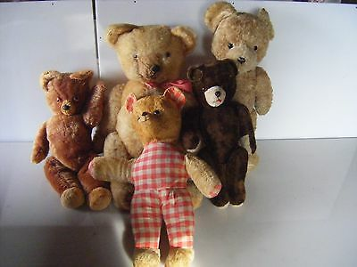 ours anciens lot de 5 ours teddy bear