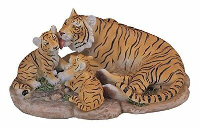 StealStreet SS-G-54131 Small Polyresin Bengal Tiger Mother Licking Two Little