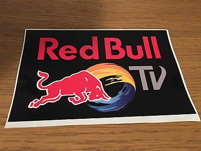 """Red Bull TV 6"""" Weather Proof Decal Sticker Snowboard Downhill Surf Skate"""