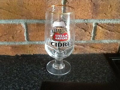 Stella Artois Cidre Chalice Pint Glass. Brand New. Nice Gift or Collectors Item.