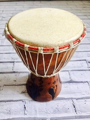27cm West African Mali Goat Skin Small Jembe Djembe Drum Drumming Instrument