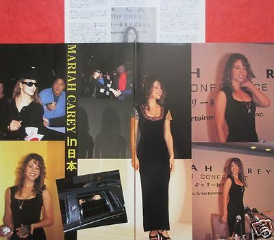 Mariah Carey in JAPAN 1993 CLIPPING JAPAN MAGAZINE IR 12A 4PAGE